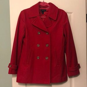 Beautiful Red Peacoat